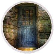 Door - A Rather Old Door Leading To Somewhere Round Beach Towel