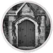 Door At St. Johns In Tralee Ireland Round Beach Towel