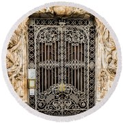 Door - Seville Spain Round Beach Towel