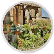 Little Paradise In Tuscany/italy/europe Round Beach Towel