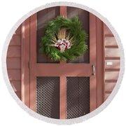 Doors Of Williamsburg 87 Round Beach Towel