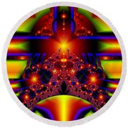Doorway To The Universe Detail Round Beach Towel