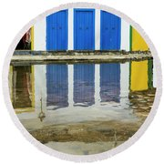 Doorways In Paraty  Round Beach Towel