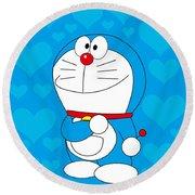 Doraemon Round Beach Towel