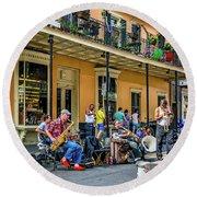 Doreen's Jazz New Orleans 2 Round Beach Towel