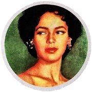 Dorothy Dandridge, Vintage Hollywood Legend Round Beach Towel