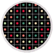 Dotted Grid Round Beach Towel