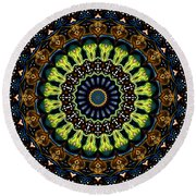 Dotted Wishes No. 3 Kaleidoscope Round Beach Towel