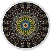 Dotted Wishes No. 4 Kaleidoscope Round Beach Towel