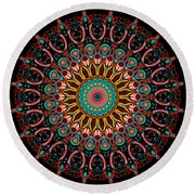 Dotted Wishes No. 4 Mandala Round Beach Towel