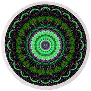 Dotted Wishes No. 6 Kaleidoscope Round Beach Towel