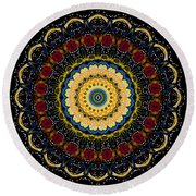 Dotted Wishes No. 6 Mandala Round Beach Towel