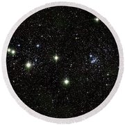 Double Cluster, Ngc 869 And Ngc 884 Round Beach Towel