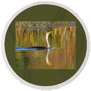 Double-crested Cormorant - 2 Round Beach Towel