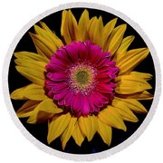 Double Delight Round Beach Towel