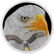 Double Eagle Round Beach Towel