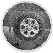 Double Exposure Manhole Cover Tire Holga Photography Round Beach Towel