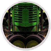 Double Green Machines Round Beach Towel