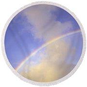 Double Rainbows Round Beach Towel