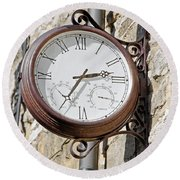 Double Sided Station Clock - Bakewell Round Beach Towel