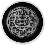 Double Stuff Oreo Round Beach Towel