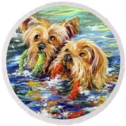Double The Trouble Round Beach Towel