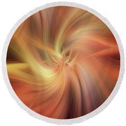 Doubled Vibrations Of Light Round Beach Towel
