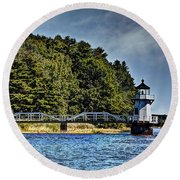 Doubling Point Lighthouse Round Beach Towel