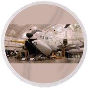 Douglas C 124c Globemaster Plane Round Beach Towel