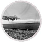 Douglas C-54 Skymaster, 1940s Round Beach Towel