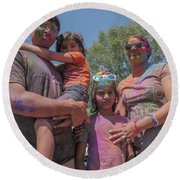 Doused With Color Round Beach Towel