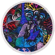 Dove Of  Many Colors Round Beach Towel