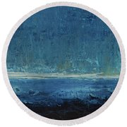 Down Comes The Night Round Beach Towel