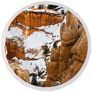 Down Into The Canyon Round Beach Towel