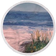 Down The Shore Round Beach Towel