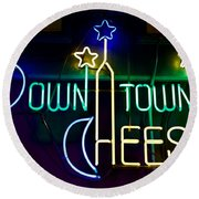Down Town Cheese Round Beach Towel