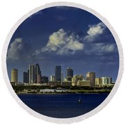 Down Town Tampa Round Beach Towel
