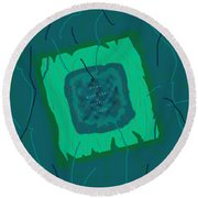 Down With That Sort Of Stuff Word Art 2 Round Beach Towel