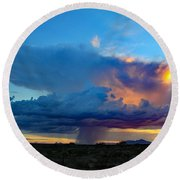 Downpour  Round Beach Towel