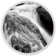 Downstream From Anna Ruby Falls Round Beach Towel