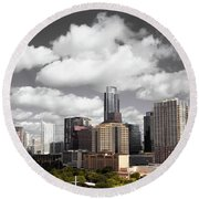 Downtown And Lake Round Beach Towel