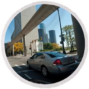 Downtown Detroit Round Beach Towel