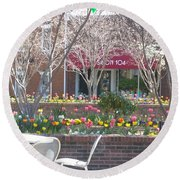 Downtown, Hendersonville, Nc Round Beach Towel