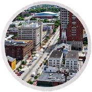 Downtown Manchester Round Beach Towel