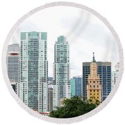 Downtown Miami Round Beach Towel