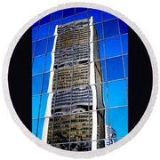 Downtown Montreal Round Beach Towel