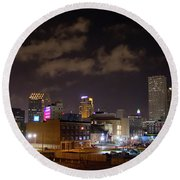 Downtown New Orleans Round Beach Towel
