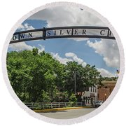 Downtown Silver City Round Beach Towel