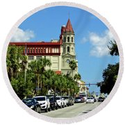 Downtown St Augustine Round Beach Towel
