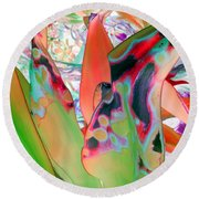 Abstracted Leaf Patterns #1  Ref. Dp67  Round Beach Towel